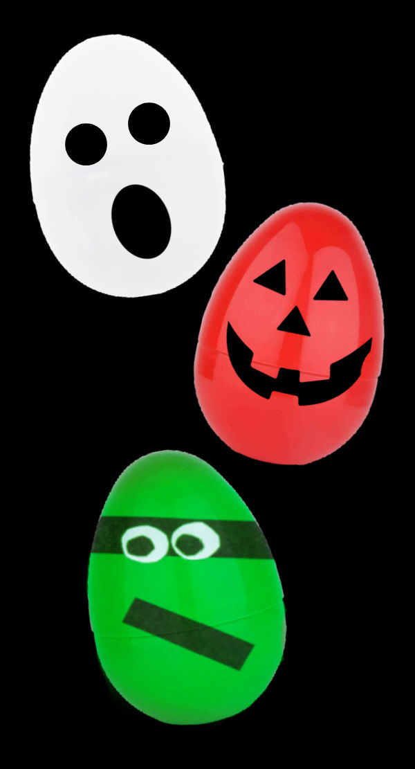Why let Easter have all the fun when you can have a spooky Halloween egg hunt?  #halloween #halloweenpartyideas #halloweenegghunt #growingajeweledrose #activitiesforkids