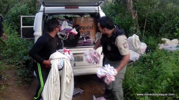 Kombi cheia de mercadoria é roubada e depois recuperada pela polícia na Zona Rural de Taquaritinga