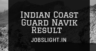 Indian Coast Guard Navik Result 2017