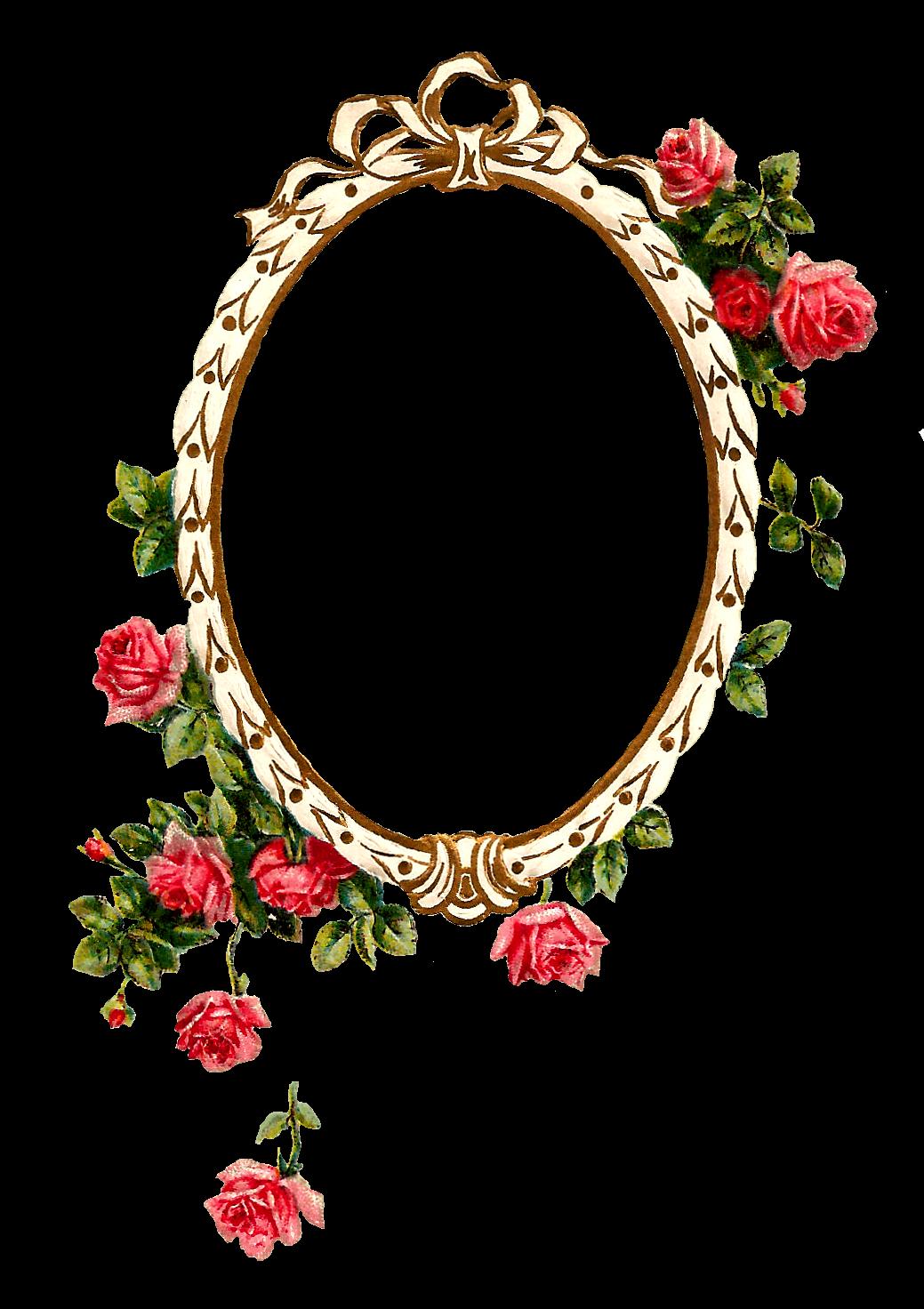 Antique Images: Free Digital Printable Label and Pink Rose ...
