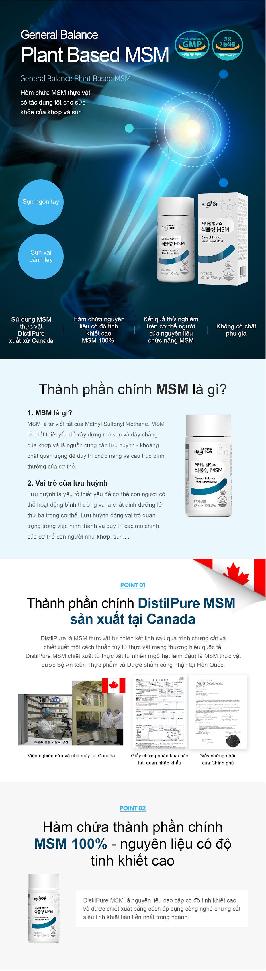Thuc pham bao ve suc khoe ( Balance Plant Based Msm )