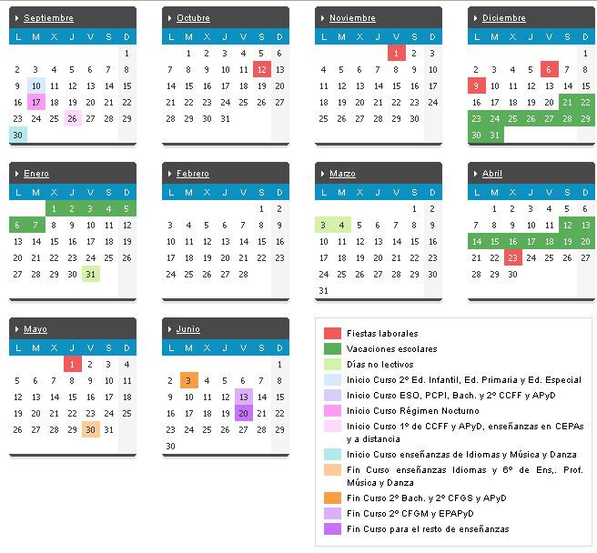 Calendario Educacyl.Mi Colegio Fco Giner De Los Rios Valladolid Calendario Escolar 2013 14