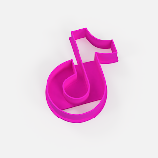 Cortante de galleta de tiktok - cookie cutter tiktok logo - archivo stl