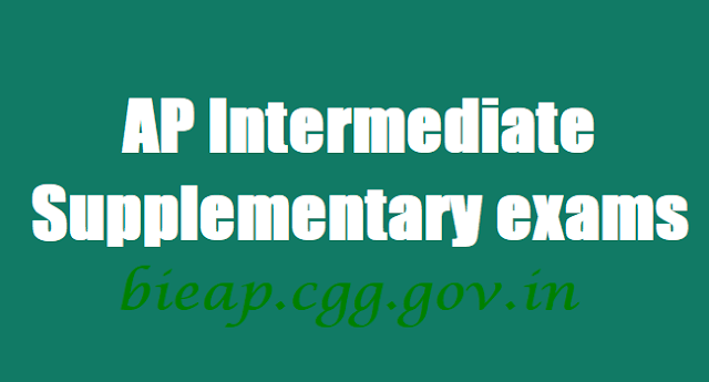 AP Inter Supplementary exams hall tickets,results,bieap.cgg.gov.in