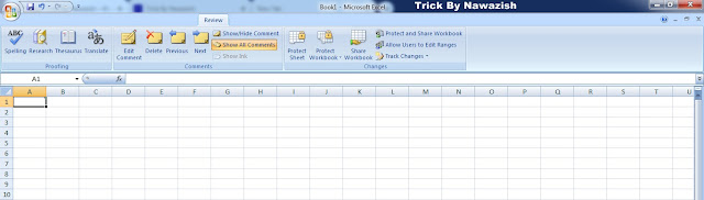 Review Tab Microsoft Excel 2007