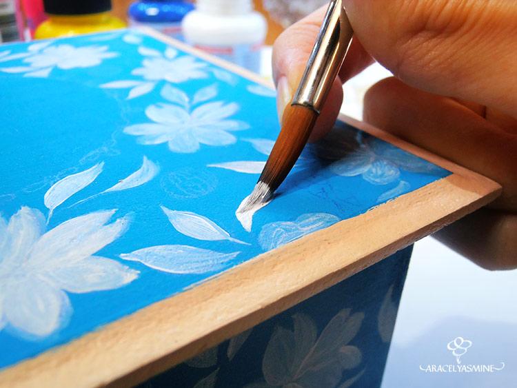 el arte de pintar con acrilicos flores