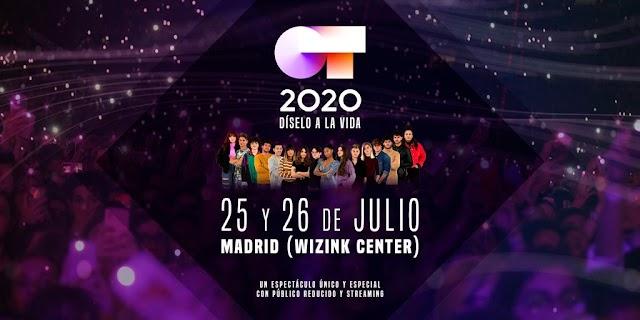 """Llega """"OT 2020: Díselo a la vida"""", dos conciertos con aforo reducido y público virtual"""