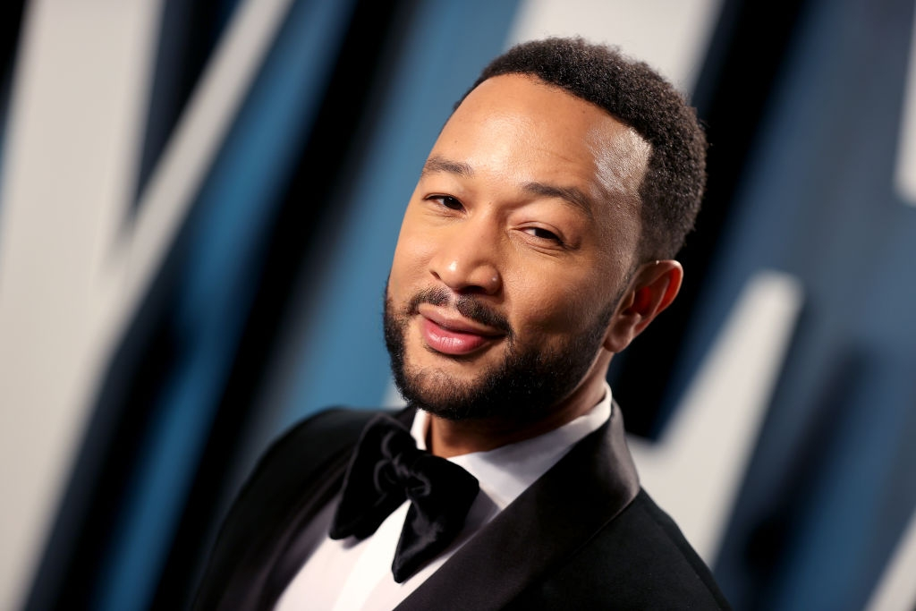 John Legend attends the 2020 Vanity Fair Oscar Party hosted by Radhika Jones at Wallis Annenberg Center for the Performing Arts on February 09, 2020 in Beverly Hills, California. (Photo by Rich Fury/VF20/Getty Images for Vanity Fair)