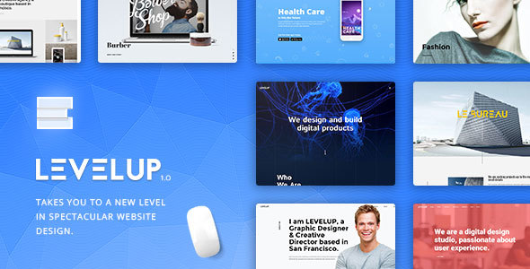 LEVELUP - Creative Multi-Purpose WordPress Theme Free Download