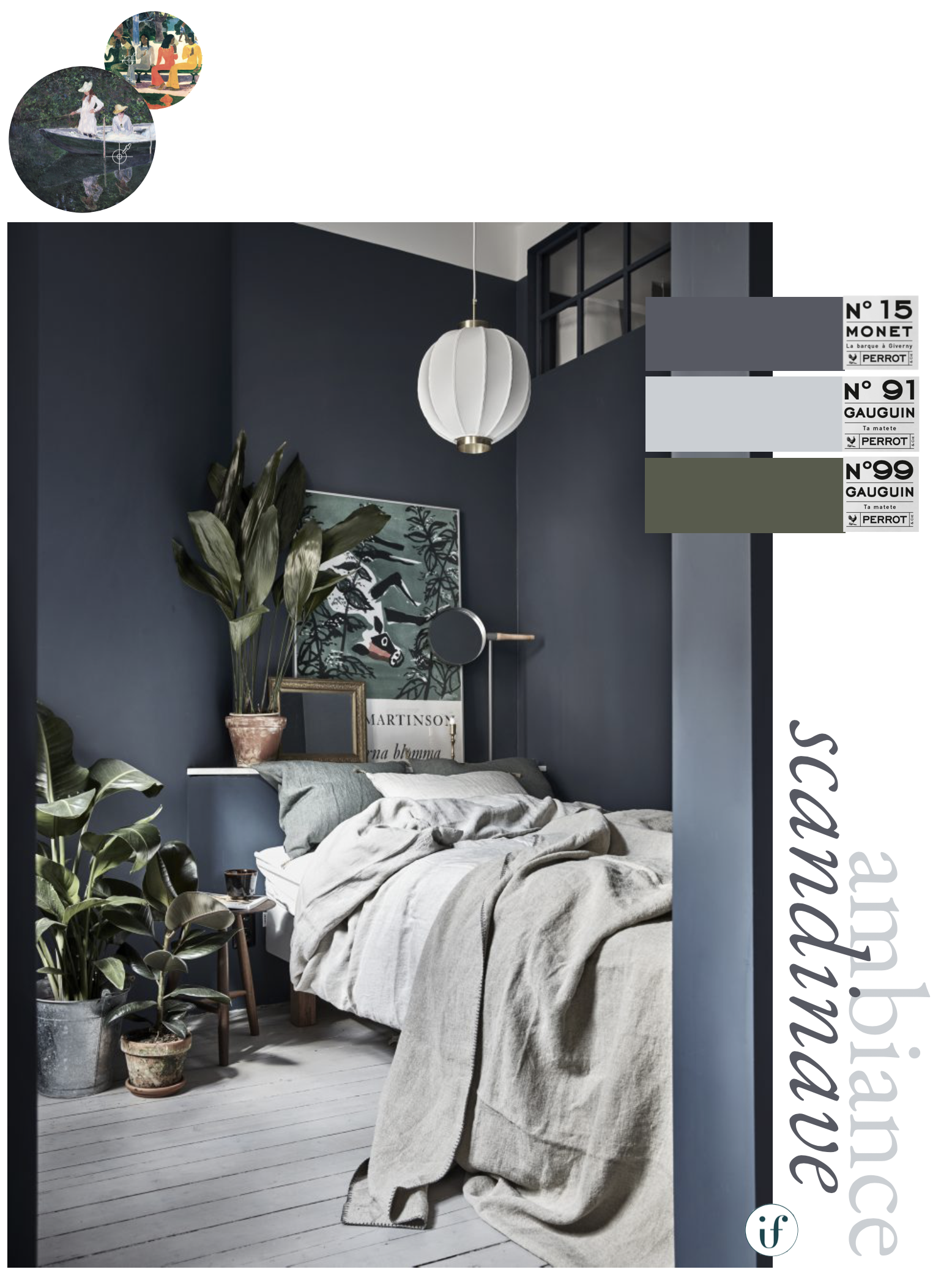 ilaria fatone x perrot - paint brand inspired by impressionistes- blue bedroom