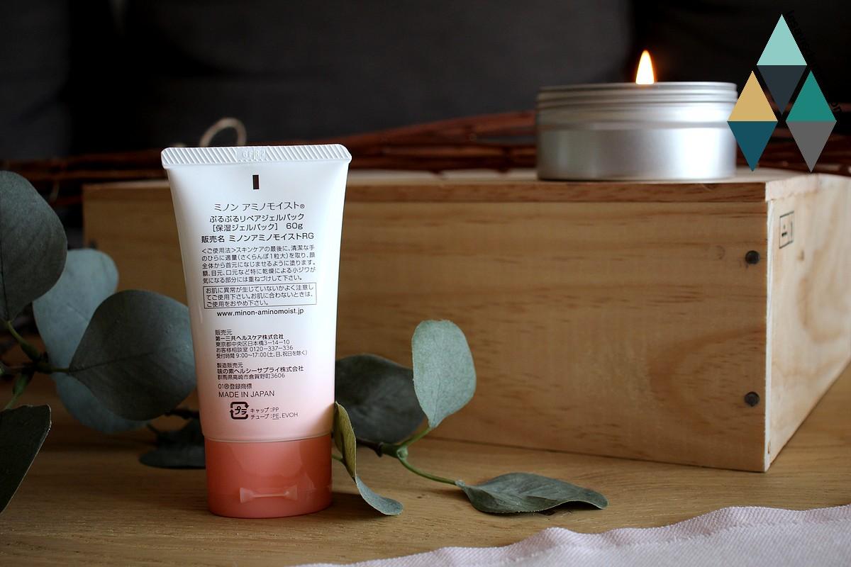 revue beauté crème soin hydratant moist gel pack Minon Amino Moist