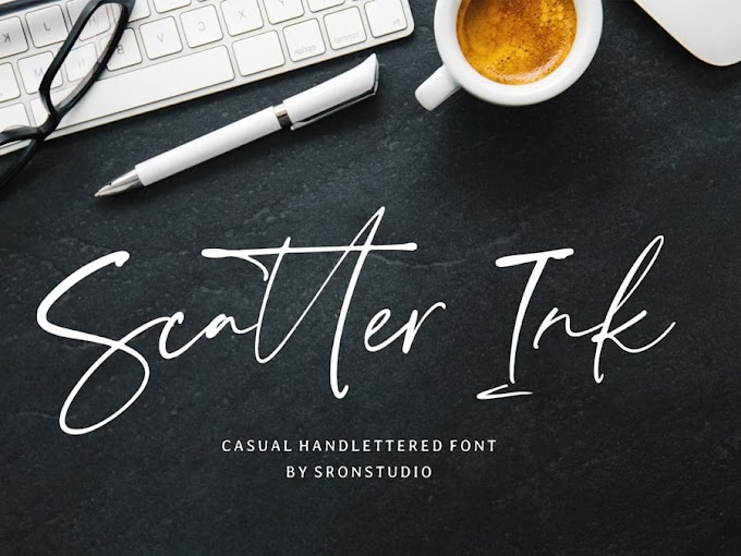 Download Scatter Ink Signature Font