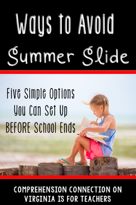 Check out this post for 5 Summer Reading Options you might try to avoid Summer Slide.