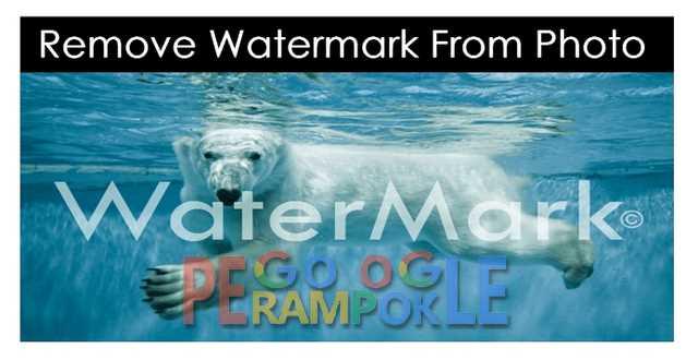 cara menghapus watermark pada gambar secara online dan gratis