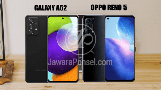 Perbandingan harga Galaxy A52 dan Oppo Reno 5