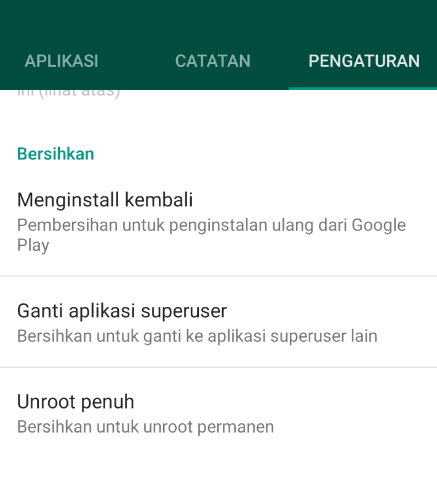 Unroot SuperSU Android