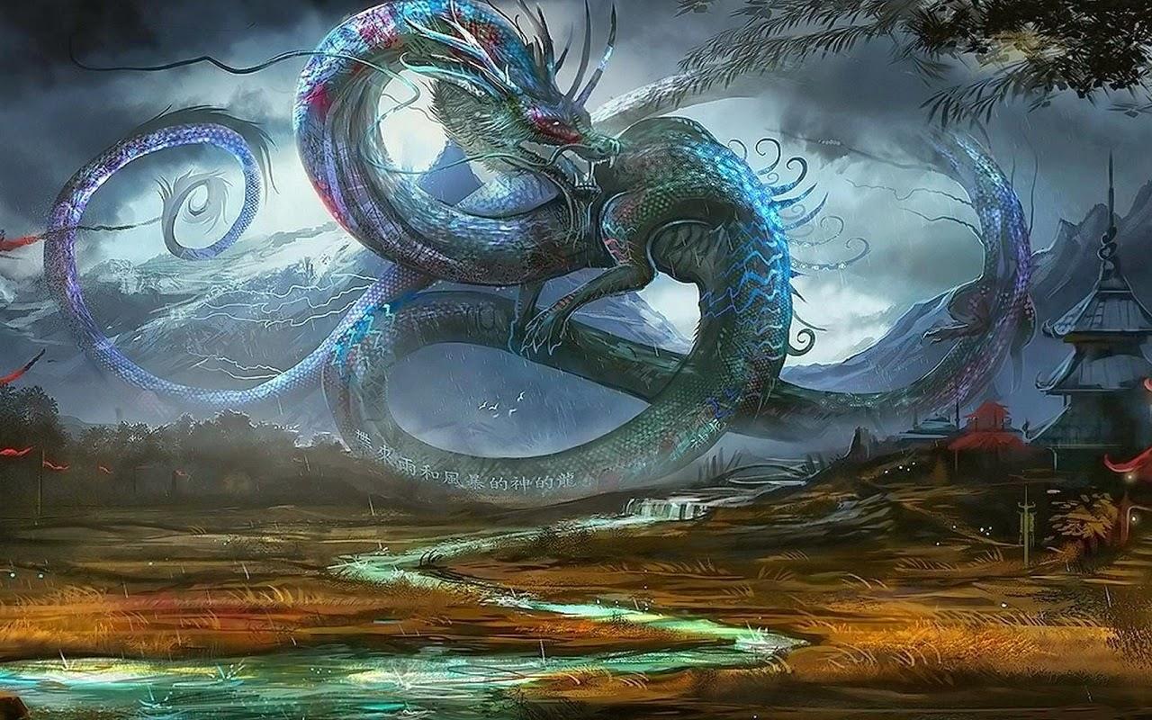 Мир Фантазий Обои на планшет Драконы