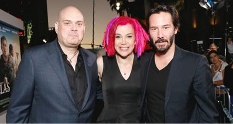 The Wachowskis (with honorary member Keanu Reeves!)