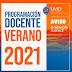 PROGRAMACION DOCENTE VERANO 2021 UASD