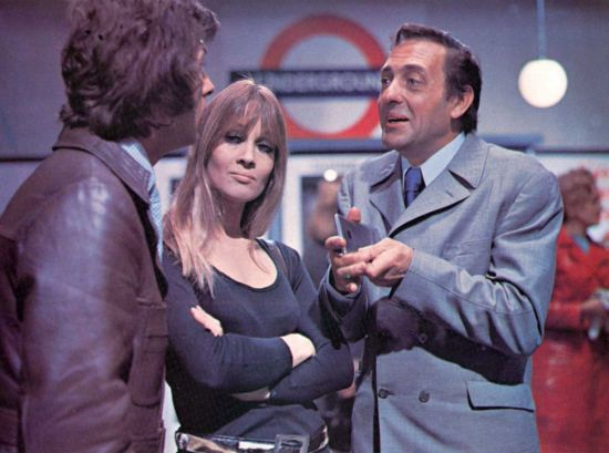 Harry H. Corbett trying to explain a misunderstanding to a man and a woman