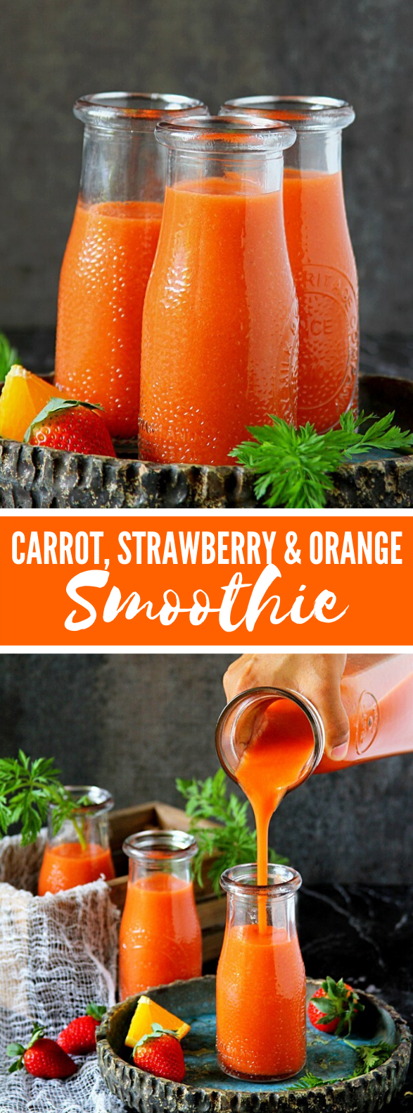 CARROT, STRAWBERRY & ORANGE SMOOTHIE #drinks #healthy