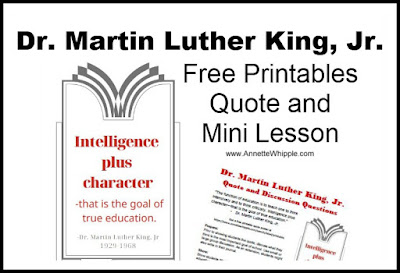 Martin Luther King Printable and Lesson