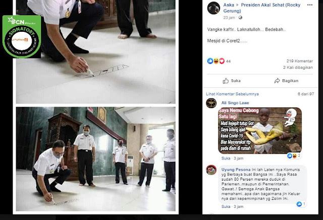 Anies Sedang Buat Shaf Sholat, Dituduh Coret-coret Masjid, ''Laknatullah, Bedebah..''