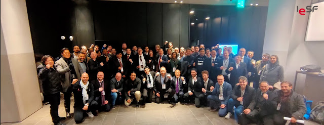 PESO President Brian Lim with the other member countries of the IESF at the 2019 IESF General Meeting