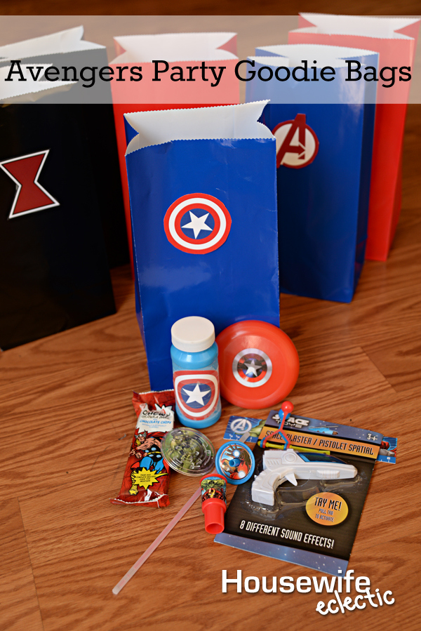 Avengers Party Goodie Bags - Housewife Eclectic