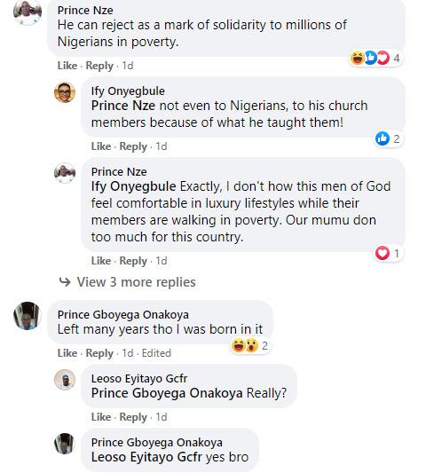 Nigerians react as the founder of Deeper Life Bible Church, Pastor Kumuyi arrives a crusade in a limousine car (photos)
