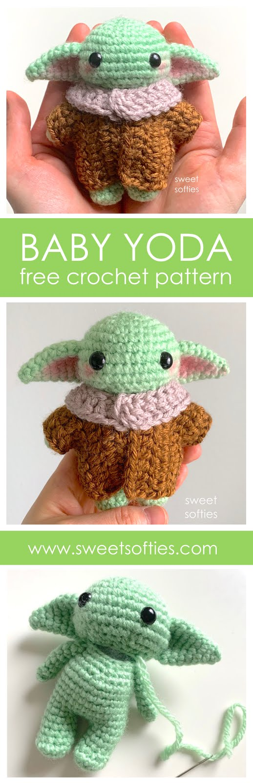Sleeping Baby Mouse Free Crochet Patterns | 1600x518