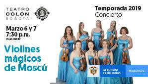 Violines mágicos de Moscú en Teatro Colon
