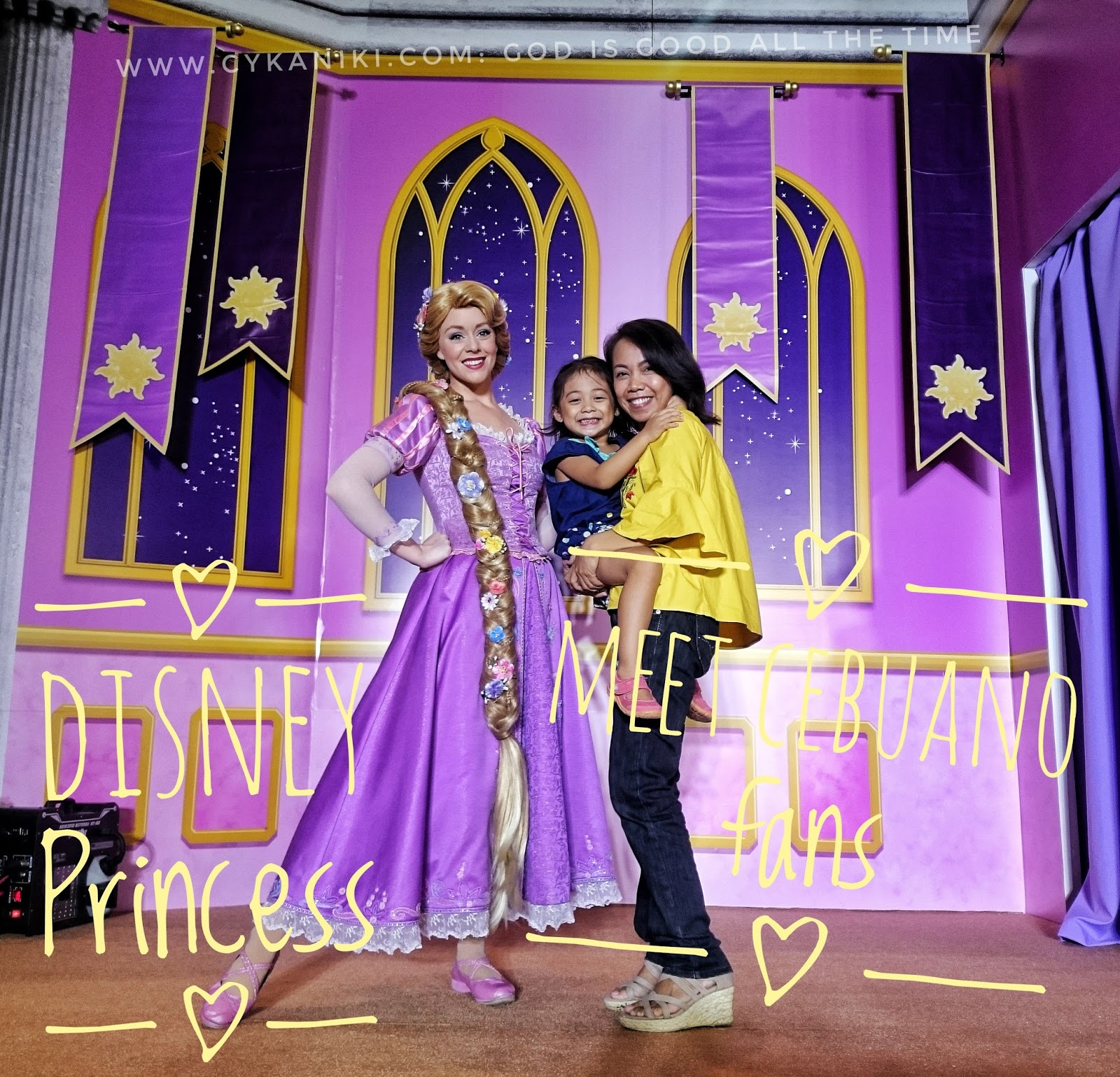 Rapunzel And Belle Meet Cebuano Fans God Is Good All The Time