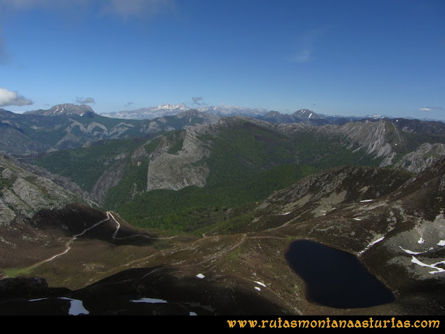 Ruta Les Rapaines, Lago Ubales, Cascayón: Lago Ubales subiendo al Cascayón