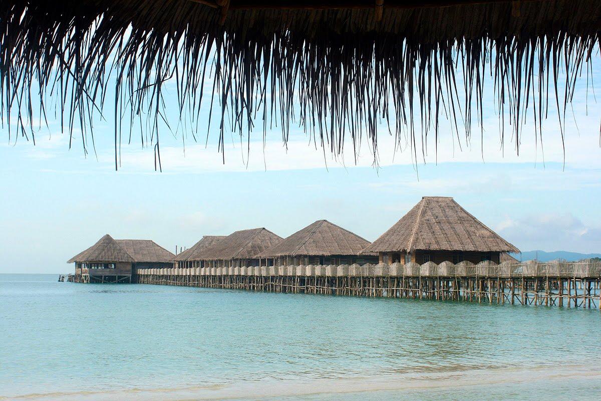 Telunas Beach Resort in Riau, Indonesia