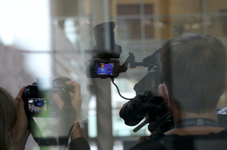En el visor de la cámara, Angela Merkel, canciller alemana desde el 22 de noviembre de 2005 / SHUTTERSTOCK / JUERGEN NOWAK