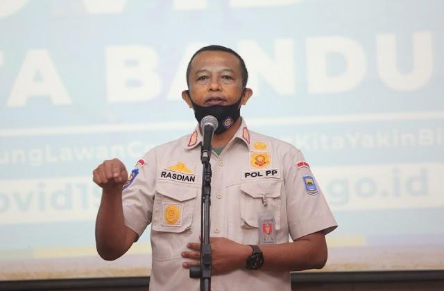 Satpol PP Kota Bandung Masifkan Operasi Prokes  Perketatan AKB , Terapkan Sanksi Denda