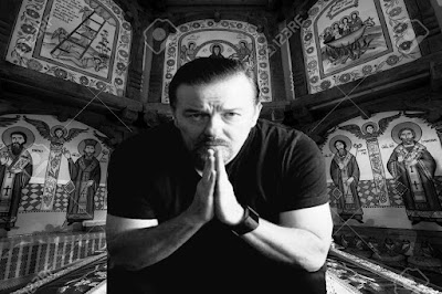 Ricky Gervais Praying In Church