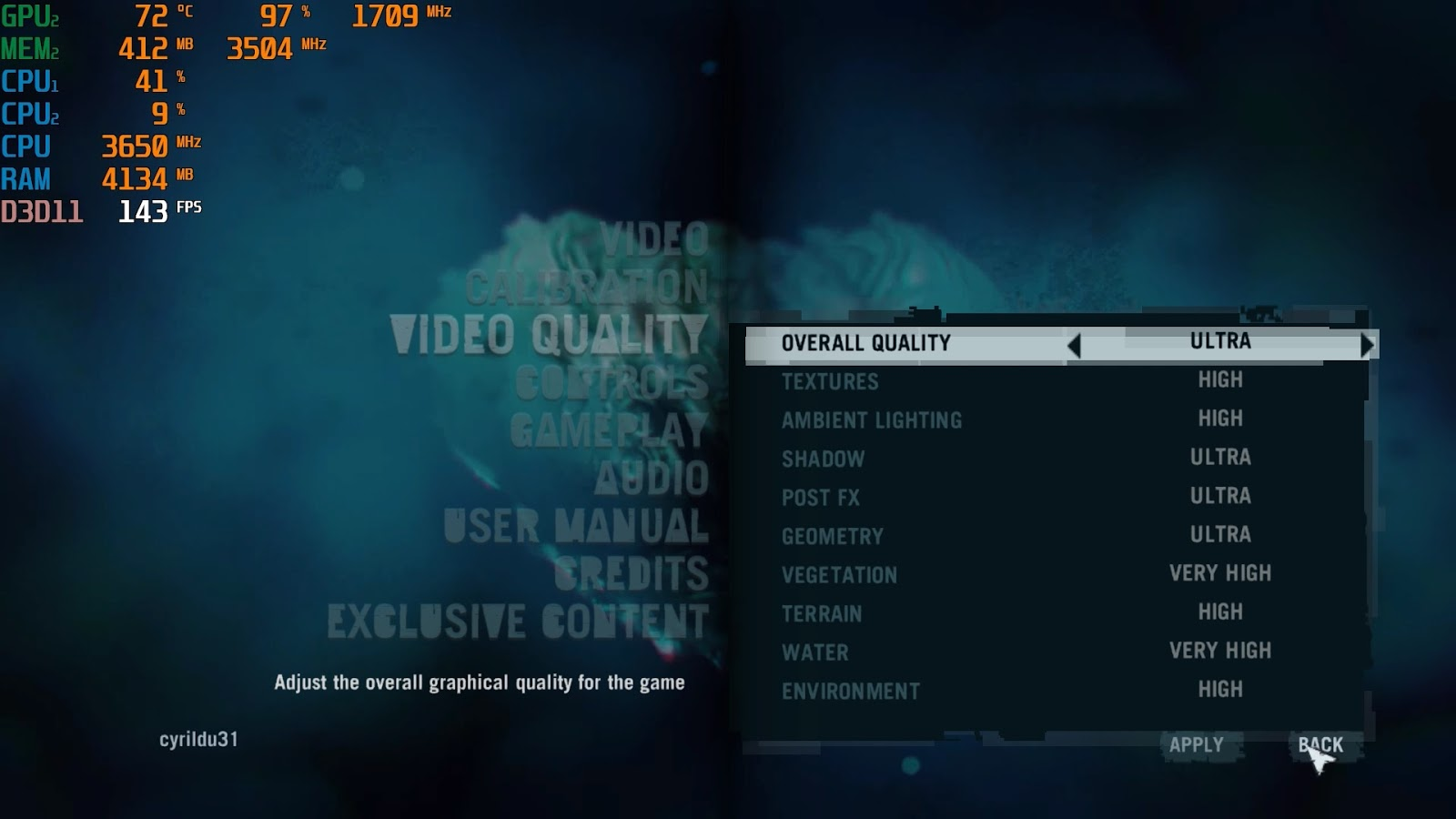 Video Quality Far Cry 3 Set Highest