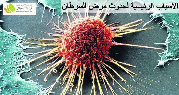 الاسباب الرئيسية لحدوث مرض السرطان