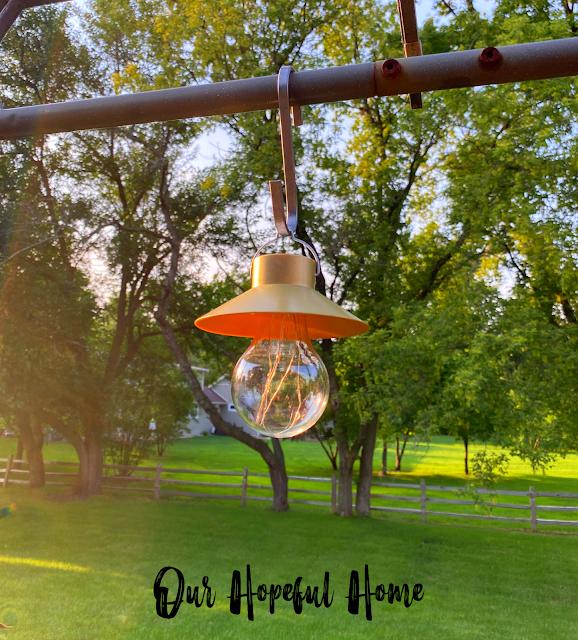 fairy lights gold hanging LED lamp