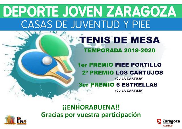 TENIS DE MESA: Campeones Temporada 2019-2020