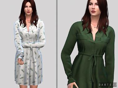 Waist Shirt Dress