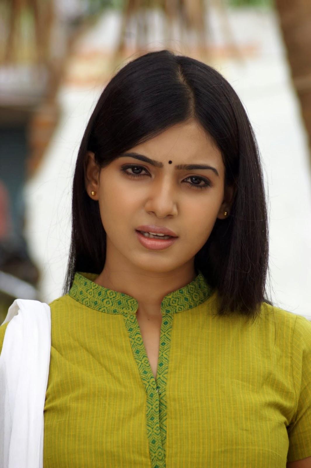 Telugu Movie Actress Samantha Cute Churidar Photos