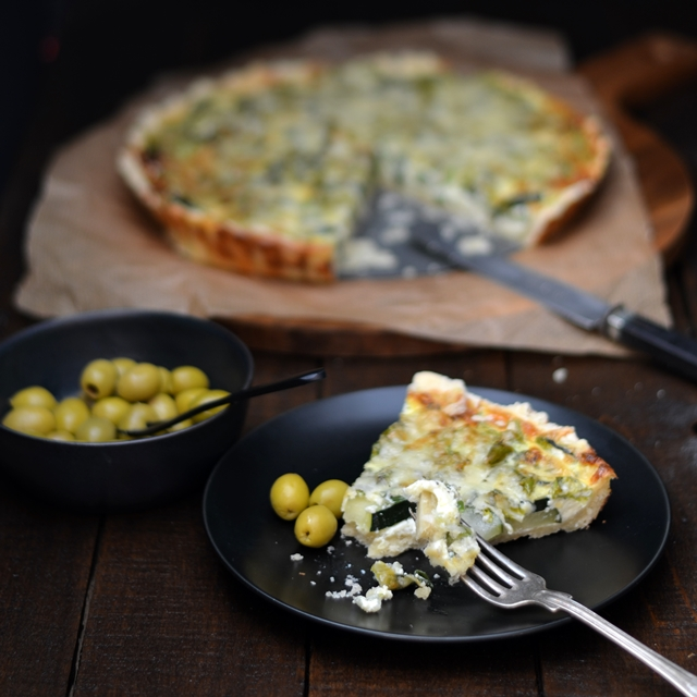 herzhaft lecker zucchini mangold quiche seaside cottage. Black Bedroom Furniture Sets. Home Design Ideas
