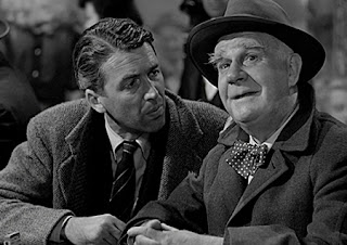 Jimmy Stewart and Henry Travers in It's a Wonderful Life (1946)
