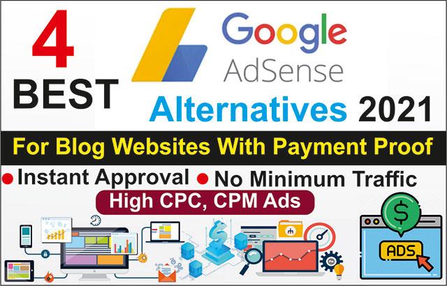 4-Best-Adsense-Alternatives-2021-Instant-Approval-for-Publisher-Blog-Website