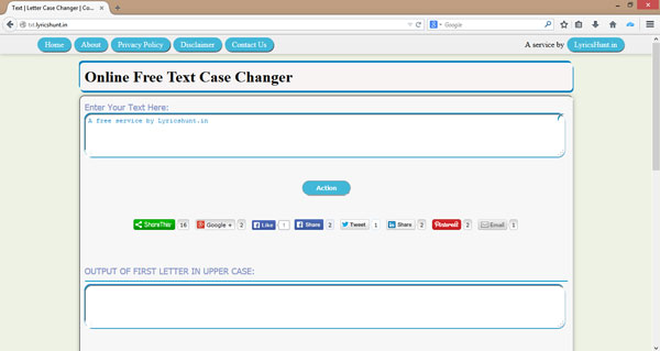 Online Text Case Changer