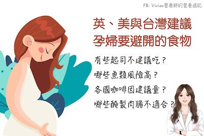 台灣Vivian營養師【圖解營養學】台灣與美國政府給孕媽咪的「忌食」建議