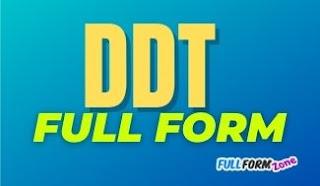 DDT Full Form